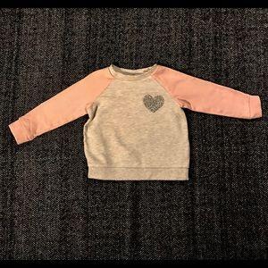 H&M pink and grey sweatshirt size 18-24m